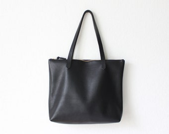 c35270b0612e black leather shopper