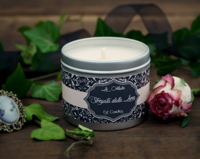 Frangipani scented candle, coconut, patchouli, Natural candle with exotic scent, travel candle, gift idea, fantasy lover, fairy tales candle