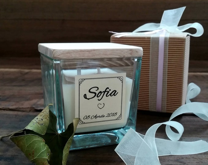 Baby Shower Favor Candles, 7oz, Personalized, Custom Fragrance and label, Luxury baby shower, Soy Candle favor, Baby Girl, Baby Boy, Winter