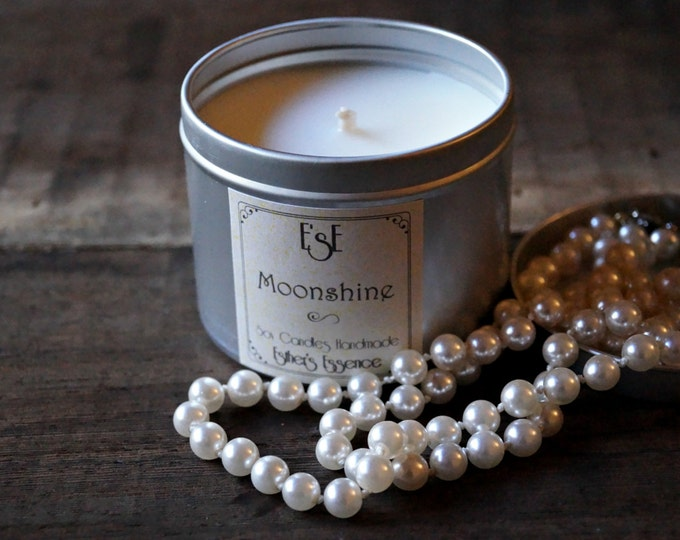 "Soy Candle, Cedarwood Vetiver, ""Moonshine"", Tin candle, Scented Candle, Strong scent, Home Decor, Gift idea, Favors, Luxury candle, Vegan"