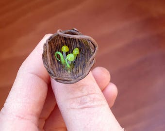 Enchanted forest nest ring, Woodland ring