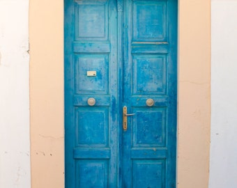 Blue Door in Oia, Santorini | Greece Photography