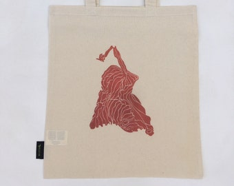 Print on Cotton Cloth Bag - 'Red Leaf' (Duilleag Dhearg)