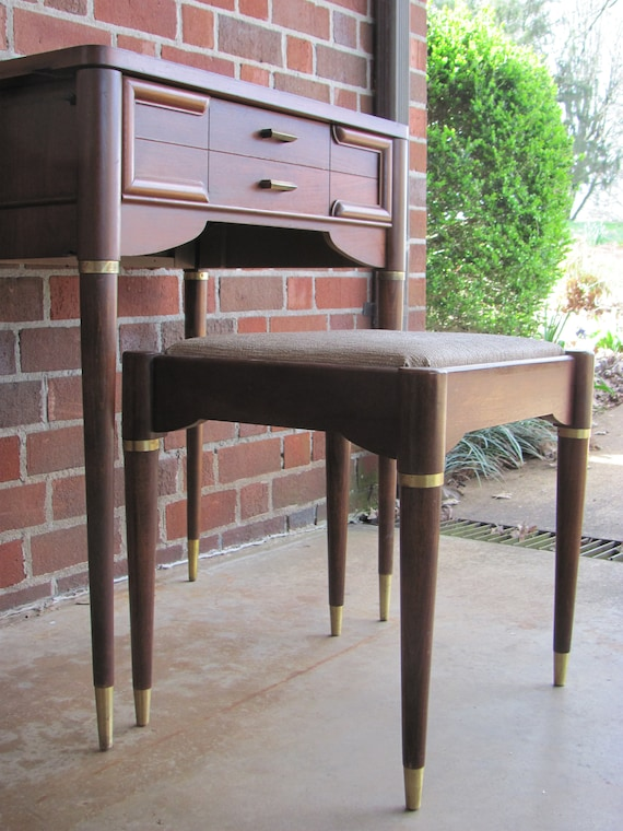Excellent Mid Mod Stool And Desk By Singer Etsy