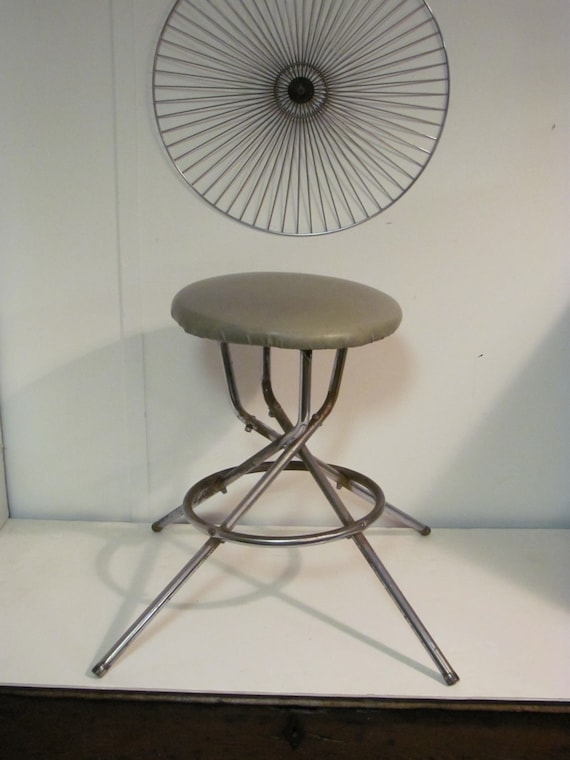 Super Crazy Industrial Steampunk Swivel Stool With Chrome Base Ocoug Best Dining Table And Chair Ideas Images Ocougorg
