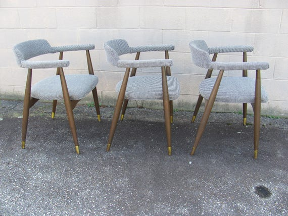 Pair Of Vintage Mid Century Modern Splay Leg Lounge Chairs Etsy