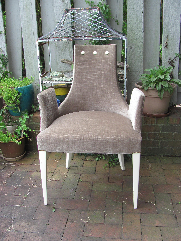 Baker Furniture Shell Arm Chair by Thomas Pheasant Enhanced