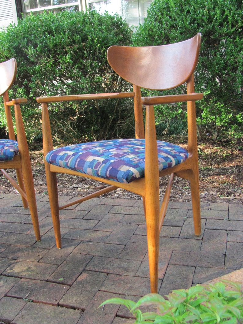 Awesome Pair Of Mid Mod Teak Arm Chairs Etsy