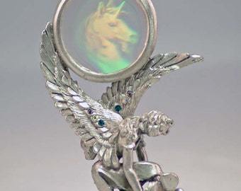 Fairys Unicorn Hologram Pewter Collectible 4499