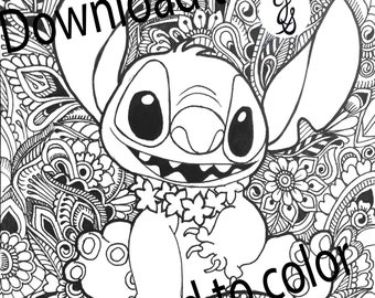 Lilo and Stitch Coloring Pages | Disneyclips.com | 270x340