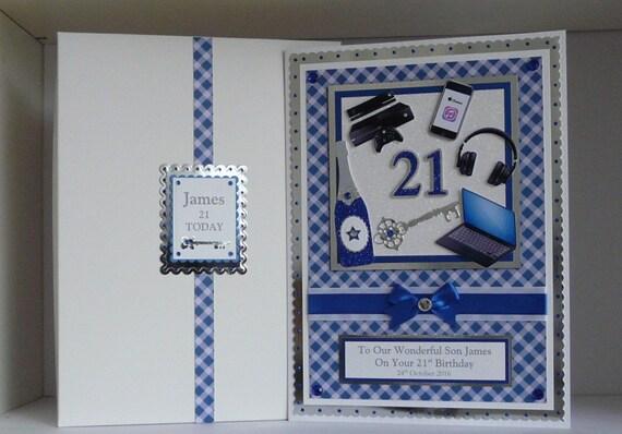 Birthday Card 18th 21st 30th Etc Box Son Grandson Boyfriend