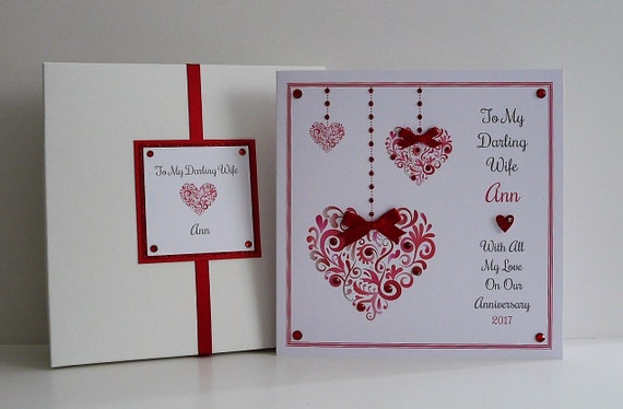 "any names Large 8/""x8/"" Personalised Christmas Card Mum /& Dad,Nana /& Grandad etc"