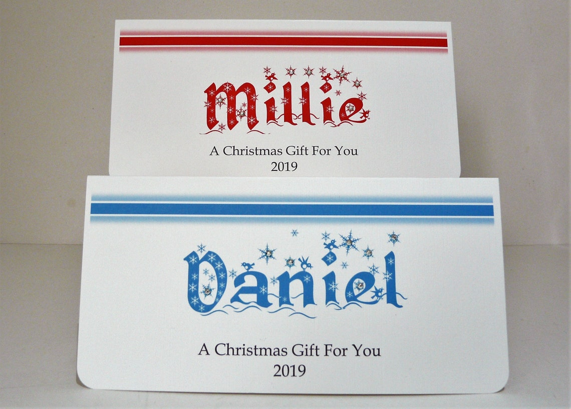 Christmas Gift/Money Wallet 2020 with Envelope Personalised image 0