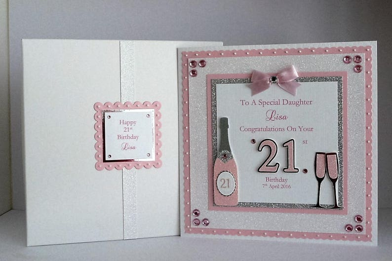 18th 21st Birthday Card With Presentation Box Daughter Son