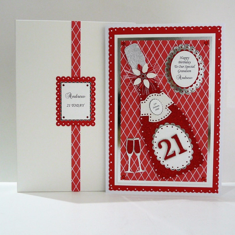 Birthday Card Personalised 14.8 x 14.8 Size with envelope