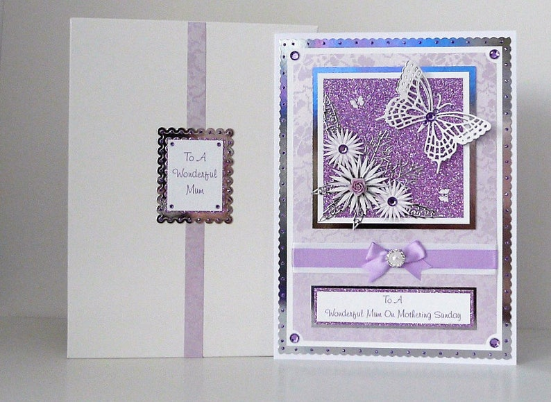 Mothers Day Card Handmade & Personalised with Presentation Box Large A4  Size Mum/Mam/Mom
