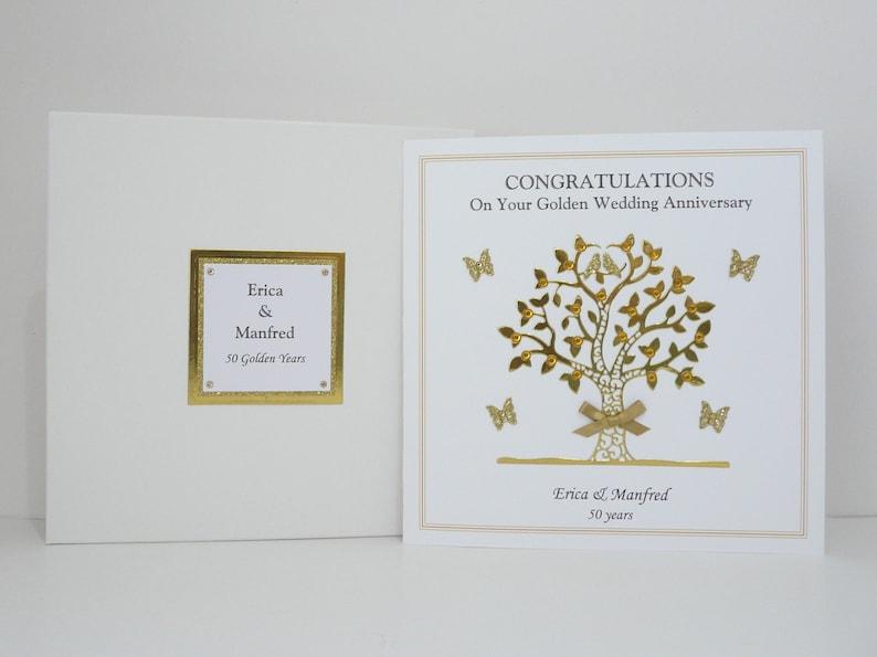 50th golden wedding anniversary card for wifehusband mum