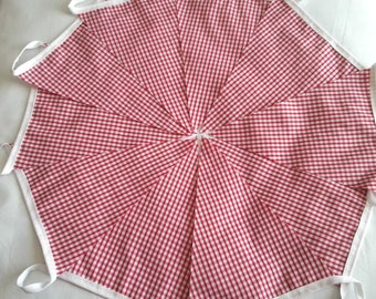 10ft / 3m The Great Get Together ~ Jo Cox ~ Red Gingham ~ Bunting Pennant Garland: Italian Kitchen, Barn Dance, Ho Down