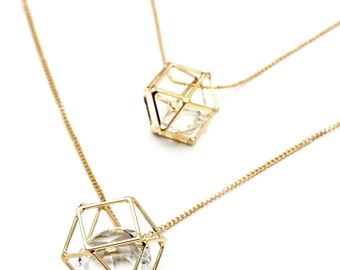 Fashion Double crystal  necklace