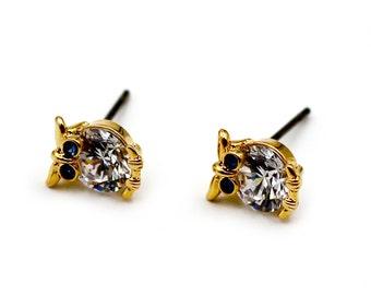 Mini Owl crystal earrings