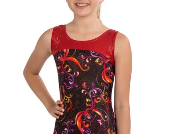 9de31d128 Red flower leotard