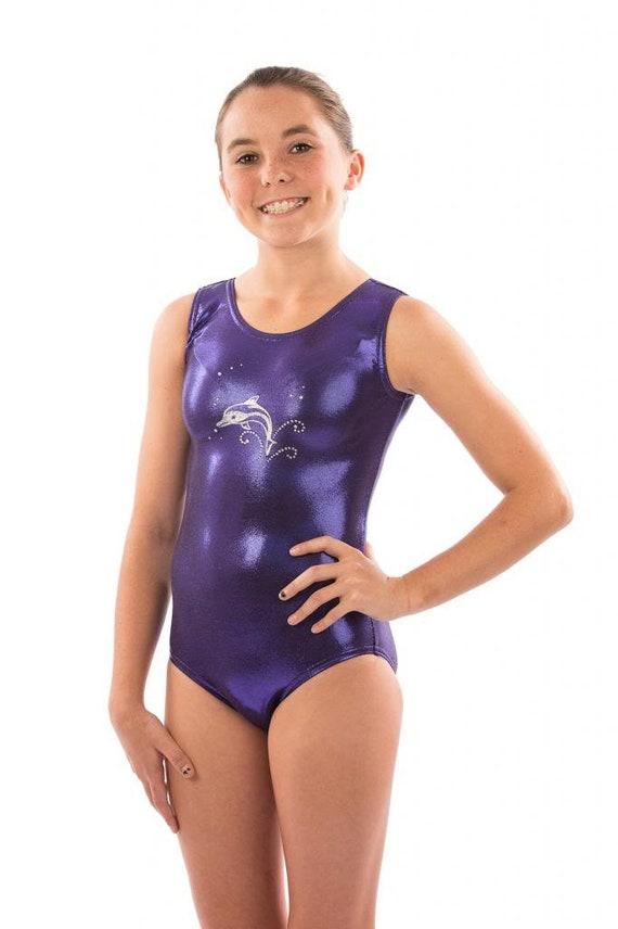 1da3b6b55 Lizatards Gymnastics Dance Purple Dolphin Leotard in Girls