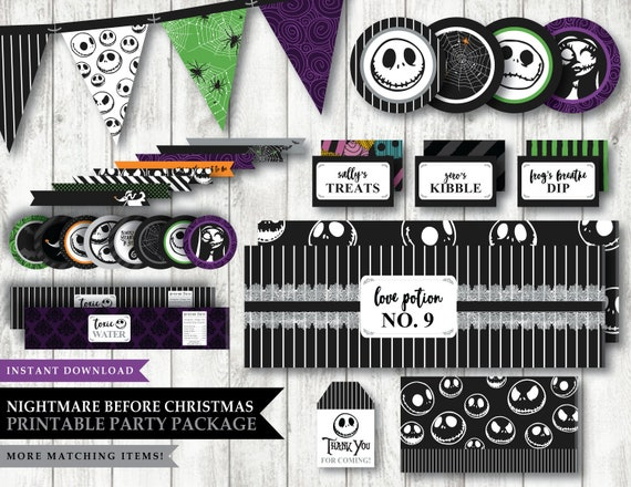 12 Nightmare Before Christmas Party Halloween Favors Personalized Candy Wrappers