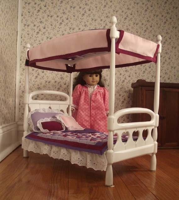Handmade Canopy Bed for 18 inch Doll hand made in USA