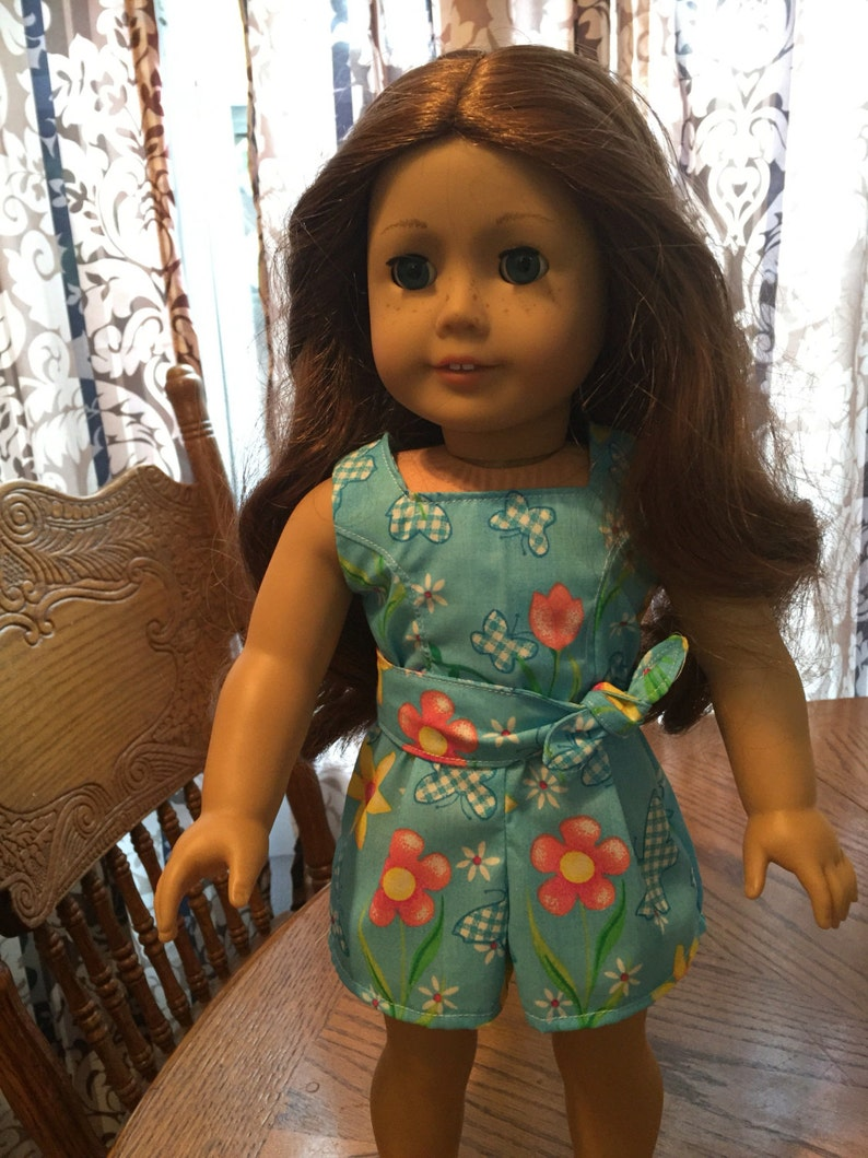 Romper outfit made to fit American Girl and other 18 inch dolls doll clothes doll romper