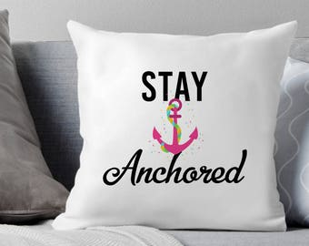 Lake House Decor, Nautical Decor Bedroom, Nautical Decor, Stay Anchored, Beach Decor, Nautical Decor