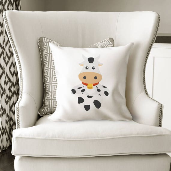 Kids Room Decor Ideas Throw Pillow Cow Cover Etsy