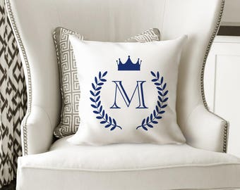 Monogram Pillow Sham, Personalize Pillow, Initial Pillow, Custom Pillow, Monogram Pillow Case, Letter Pillow