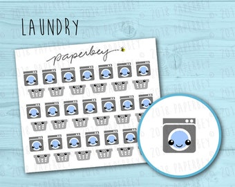 Laundry Machines and Baskets Planner Stickers