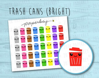 Garbage/Trash Can Planner Stickers