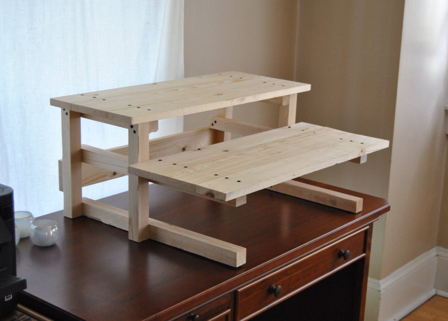 DIY Project Plan Two Monitor Standing Computer Desk DIY | Etsy