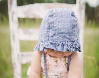 spring baby bonnet colorful bonnet handmade bonnet modern bonnet Watercolor baby bonnet girl sun bonnet