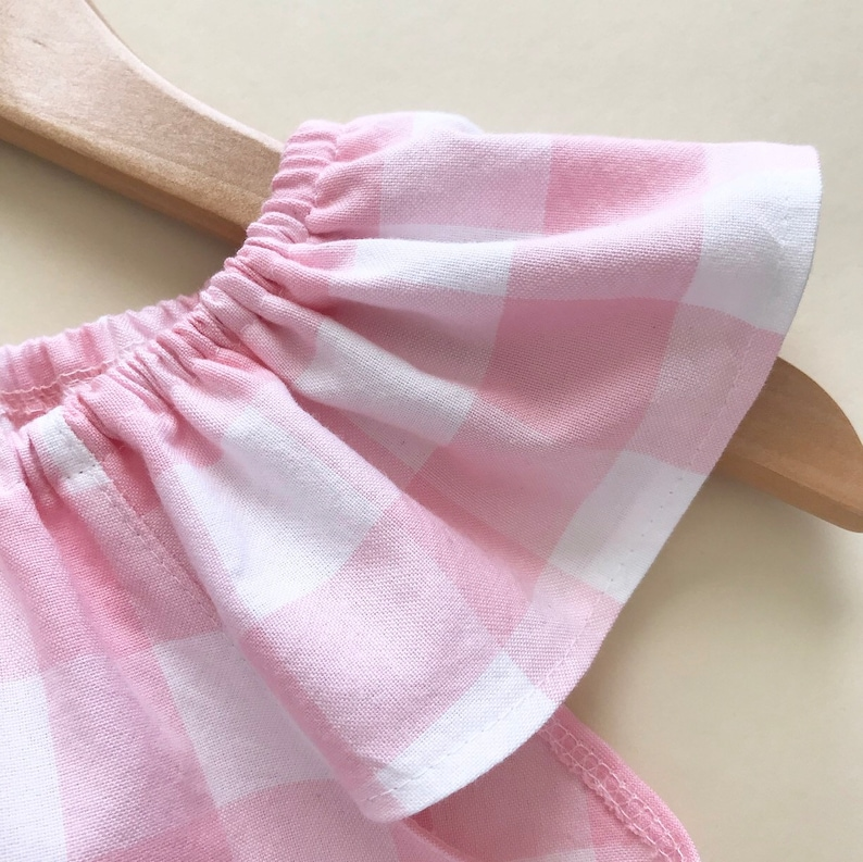 little girls easter dress  toddler dress  pink gingham dress  baby girl Easter dress  boho dress  smock dress  spring outfit pictures