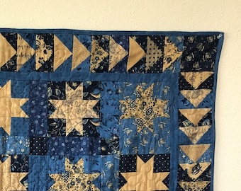 True Blue Lap Quilt; Flying Geese