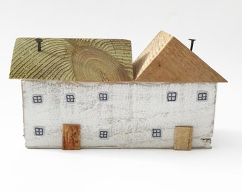 Wooden Country Cottages Miniature Houses White Wooden Houses Handmade Wooden Cottages Little Houses Small Wood Houses Little Cottages