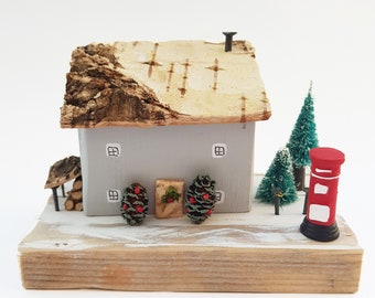 German christmas decorations little smoking houses from wood buy