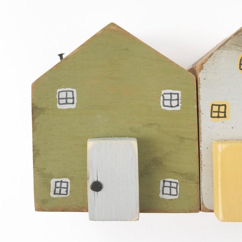 Wood Cottages Shelf Decor