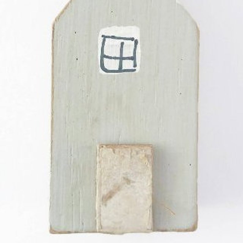 Grey Wooden House Fridge Magnet