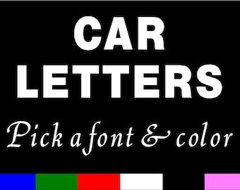CUSTOM CAR LETTERS Vinyl Sticker decal auto lettering