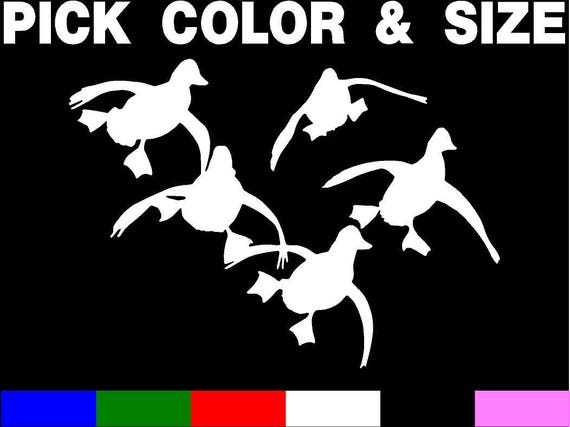 Jukin Four Ducks Decal Duck Silhouette Hunting Decal Duck Hunting Decals