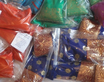 10 x YOGA EYE PILLOWS  in rainbow colours for relaxation  therapy and bliss.
