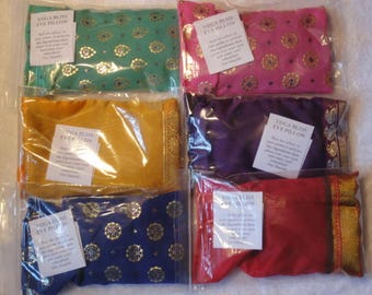 6 x YOGA EYE PILLOWS  in rainbow colours for relaxation  therapy and bliss.