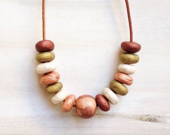 Round Bead Jewellery//Mothers Day Gift//Multi Colored Beads//Bead Jewelry/ autumn  Bead Jewellery//Copper Beads// Fall Color Beads