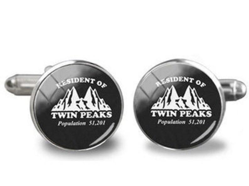 David Lynch Agent Cooper Twin Peaks Washington Cufflinks Stainless Steel
