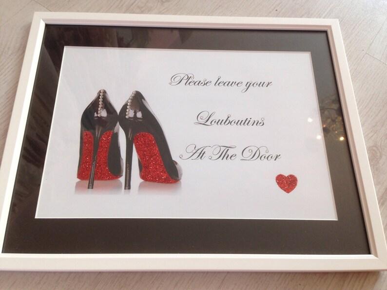 ca522f413f2 Diamanté shoe picture Red soles glitter art   diamante