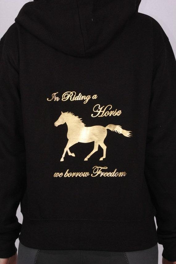 We Sweatshirt Kapuzenjacke A Horse Pferde In Riding Freedom Borrow EDH29YWI